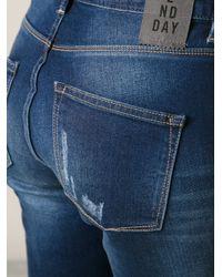 2nd Day - Blue Friola Patchwork Boyfriend Jeans - Lyst