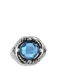 David Yurman | Infinity Ring With Hampton Blue Topaz | Lyst
