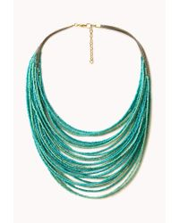 Forever 21 - Blue Boho Doll Beaded Necklace - Lyst