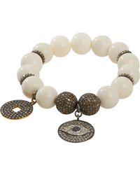 Carole Shashona - White Imperial Yin Eye Bracelet - Lyst