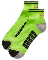 Polo Ralph Lauren | Green Men's Neon Sports Quarter Socks for Men | Lyst