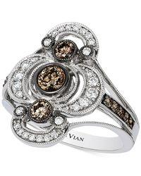 Le Vian | Metallic Chocolatier® Chocolate Deco Estate™ Diamond (7/8 Ct. T.w.) Ring In 14k White Gold | Lyst