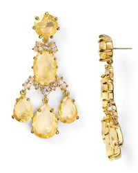 kate spade new york - Yellow Up The Ante Statement Chandelier Earrings - Lyst