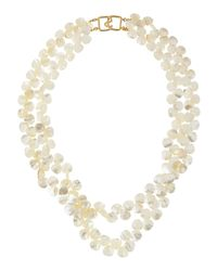 Kenneth Jay Lane - White Doublestrand Mother Of Pearl Necklace - Lyst