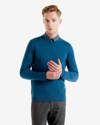 Ted Baker | Blue Merino Wool Jumper for Men | Lyst