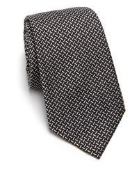 Armani - Black Neat Crisscross Tie - Lyst