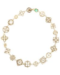 Judy Geib | Green Emerald & Gold Casino Royale Short Necklace | Lyst