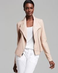 Lyst Vince Jacket Paper Leather Scuba In Pink