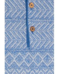 Missoni - Blue Towelling Polo T-shirt for Men - Lyst