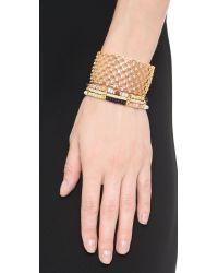 Noir Jewelry Metallic Replay Cuff Bracelet - Gold/clear