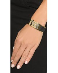 Marc By Marc Jacobs - Black Grommet Slider Bracelet - Oro - Lyst