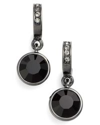 Givenchy - Black Jeweled Drop Earrings - Hematite/ Jet - Lyst