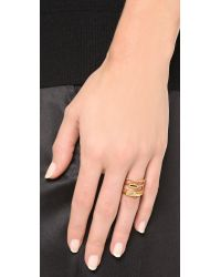 Madewell Metallic Triple Threat Ring - Vintage Gold