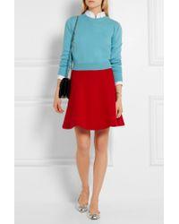 Miu Miu - - Wool-crepe Mini Skirt - Red - Lyst