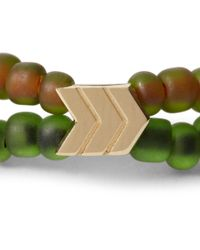 Luis Morais Green Gold And Glass Bead Symbol Bracelet for men