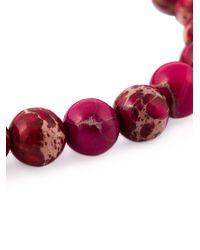 Leivan Kash | Purple Beaded Feather Bracelet | Lyst
