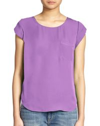 Joie - Purple Rancher Silk Top - Lyst