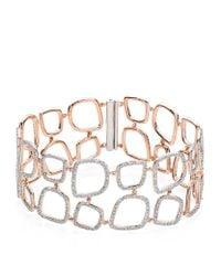 Monica Vinader | Metallic Riva Diamond Cluster Cuff Bracelet | Lyst