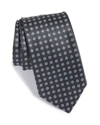 BOSS - Blue Medallion Silk Tie for Men - Lyst