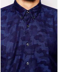 Junk De Luxe - Blue Jacquard Shirt for Men - Lyst