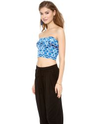 Rebecca Minkoff | Alex Bustier Top Blue Multi | Lyst