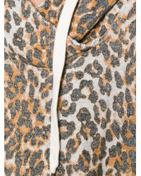 Bliss and Mischief - Brown Boxy Leopard Print Hoodie - Lyst
