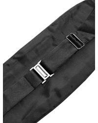 Givenchy Black Pleated Silk Cummerbund for men