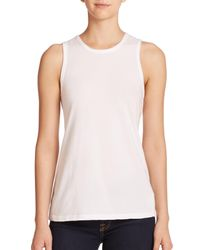 James Perse | White Wrap-back Tank Top | Lyst
