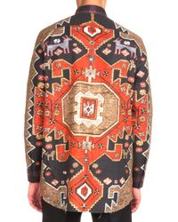 Givenchy - Orange Persian-print Long-sleeve Shirt for Men - Lyst