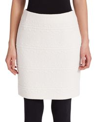 Akris Punto - Natural Cotton Jacquard Mini Skirt - Lyst