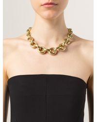 Vaubel Metallic Small Circle Necklace