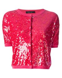 Twin Set - Pink Sequin Cardigan - Lyst