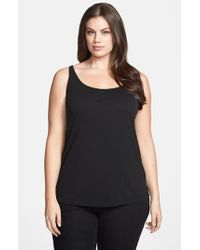 Eileen Fisher | Black Long Silk Tank | Lyst