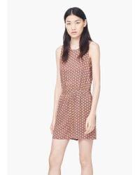 Mango - Multicolor Printed Short Jumpsuit - Lyst