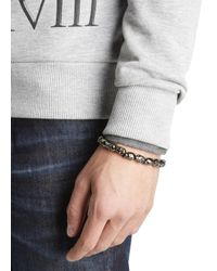 Simon Carter | Metallic Gunmetal Skull Bracelet for Men | Lyst