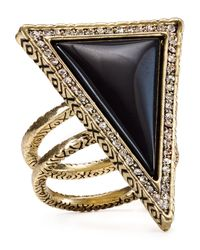 House of Harlow 1960 | Black 1960 Triangle Theorem Ring | Lyst