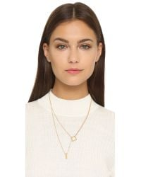 Madewell - Metallic Cylinder Double Twist Necklace - Vintage Gold - Lyst