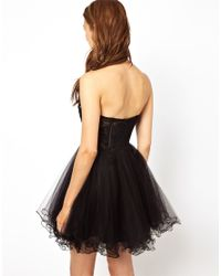 Forever Unique Black Embellished Prom Dress