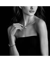David Yurman - Metallic Cable Classics Bracelet With Diamonds In 18k Gold, 4mm - Lyst