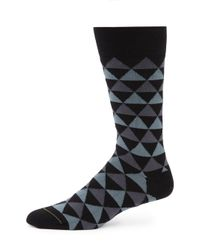 Paul Smith | Black Tri Striped Socks for Men | Lyst