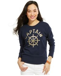Tommy Hilfiger - Blue Captain Sweatshirt - Lyst