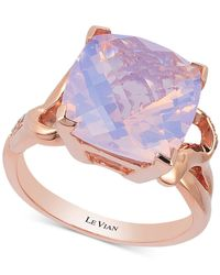 Le Vian | Purple Lavender Quartz (5-9/10 Ct. T.w.) And Diamond (1/10 Ct. T.w.) Ring In 14k Rose Gold | Lyst