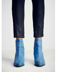 Free People - Blue Belleville Ankle Boot - Lyst