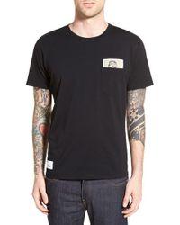 Wesc Black Graphic Pocket T-shirt for men