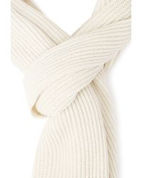 Forever 21 - Natural Ribbed Knit Scarf - Lyst