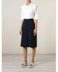 Erika Cavallini Semi Couture - White Short Sleeve Shirt - Lyst
