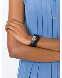 Ferragamo | Black Gancio Wrap Around Bracelet | Lyst