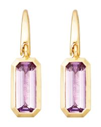Astley Clarke | Purple Gold-plated Amethyst Prismic Drop Earrings | Lyst