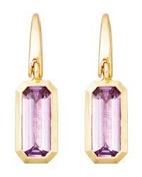 Astley Clarke - Purple Gold-plated Amethyst Prismic Drop Earrings - Lyst