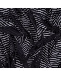 Paul Smith | Women's Black Silk Sheer-stripe Scarf | Lyst